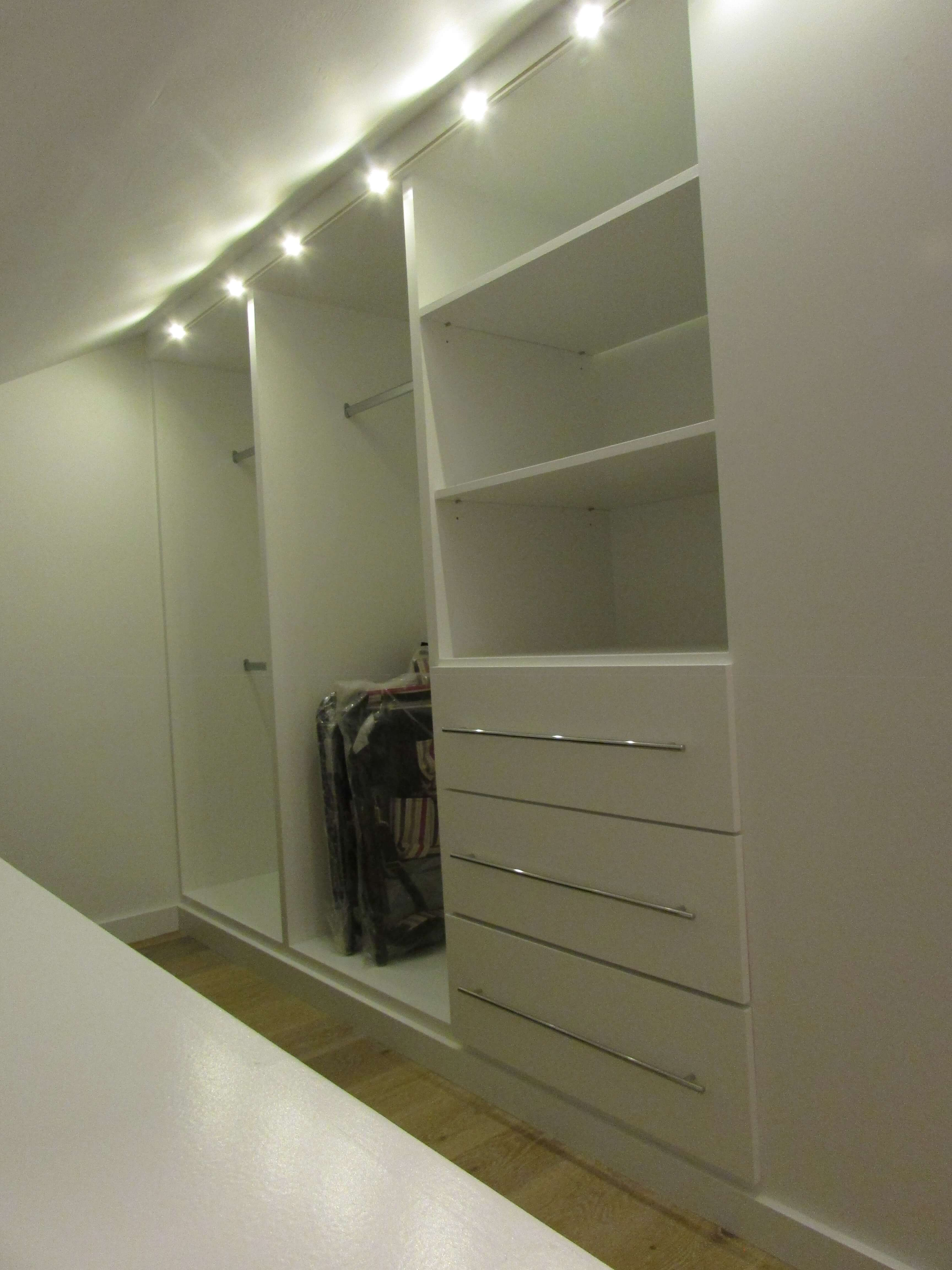 Closet Organizer White Lacquer with chrome bar pulls Ketchum Idaho