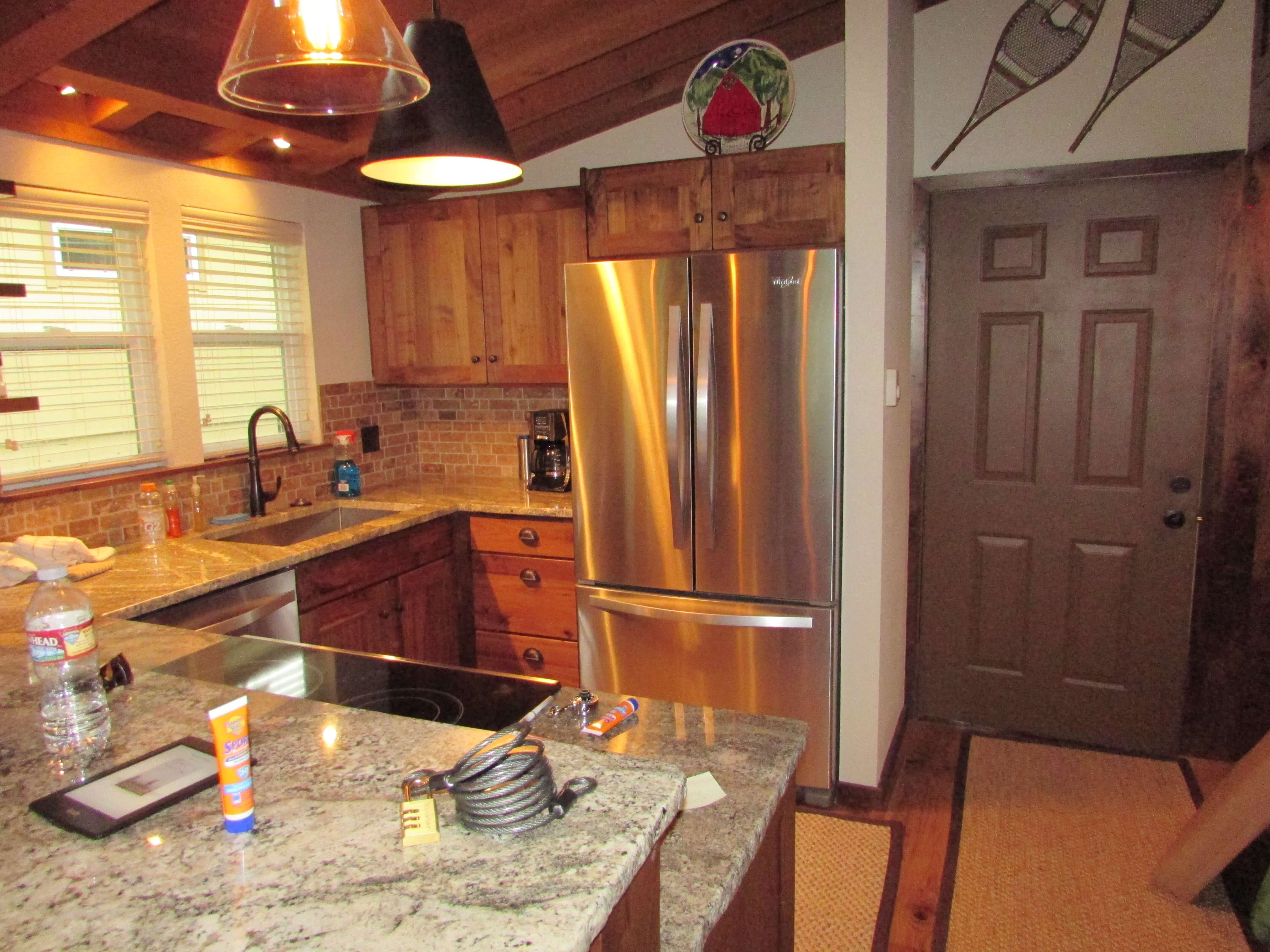 Rustic Walnut cabinets with clear finish Ketchum Idaho
